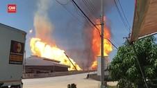 VIDEO: Pipa Gas Meledak, 3 Orang Tewas Puluhan Orang Terluka