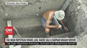 VIDEO: Tak Mau Repotkan Orang Lain, Kakek Gali Makam Sendiri