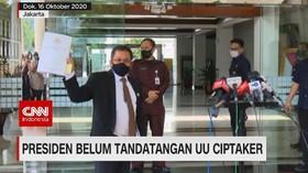 VIDEO: Presiden Belum Tanda Tangani UU Ciptaker