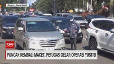 VIDEO: Puncak Kembali Macet, Petugas Gelar Operasi Yustisi
