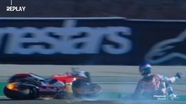 VIDEO: Alex Marquez Tercepat dan Jatuh di FP1 MotoGP Teruel