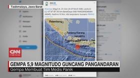 VIDEO: Gempa 5,9 Magnitudo Guncang Pangandaran