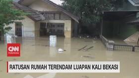 VIDEO: Ratusan Rumah Terendam Luapan Kali Bekasi