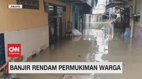 VIDEO: Banjir Rendam Pemukiman Warga di Ibu Kota