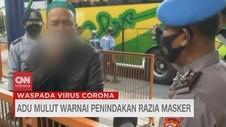 VIDEO: Adu Mulut Warnai Penindakan Razia Masker