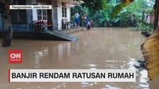 VIDEO: Banjir Rendam Ratusan Rumah di Pangandaran