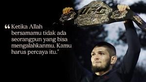 FOTO: Celoteh Terbaik Khabib Nurmagomedov di UFC