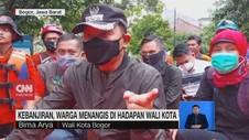 VIDEO: Kebanjiran, Warga Menangis di Hadapan Wali Kota Bogor