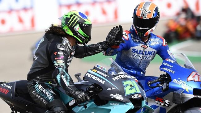 Franco Morbidelli tidak tersentuh dan menang mudah di MotoGP Teruel 2020 usai mengalahkan duo Suzuki Alex Rins dan Joan Mir.