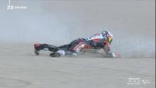 VIDEO: Detik-detik Nakagami Jatuh saat Memimpin MotoGP Teruel