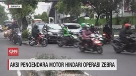 VIDEO: Aksi Nekat Pemotor Hindari Operasi Zebra