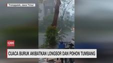 VIDEO: Cuaca Buruk Akibatkan Longsor dan Pohon Tumbang