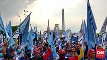 Geruduk Kantor Gubernur, Ribuan Buruh Minta Khofifah Keluar
