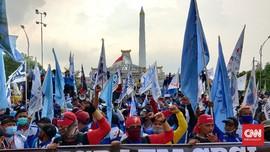Tak Ditemui Khofifah, Buruh Akan Lanjutkan Aksi Tolak Omnibus