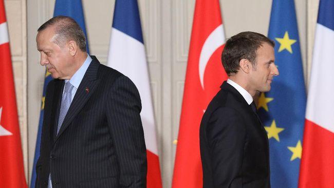 Hubungan antara Presiden Prancis Emmanuel Macron dan Presiden Turki Recep Tayyip Erdogan telah panas sejak lama.