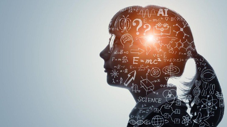 Science and education concept. AI (Artificial Intelligence).