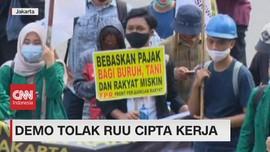 VIDEO: Demo Tolak RUU Cipta Kerja Masih Terus Berlanjut