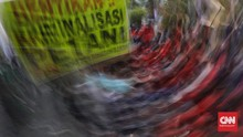 Demo Tolak Omnibus Law, Polisi Amankan Orang Mencurigakan