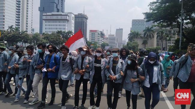 Mahasiswa dari berbagai daerah akan demo di Gedung Merah Putih KPK, Senin (25/9). Mereka menolak pemecatan pegawai KPK yang tak lolos TWK.