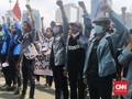 BEM SI Bergerak Demo Kritik 7 Tahun Jokowi di Istana Negara