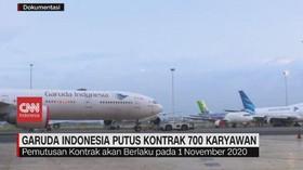 VIDEO: Garuda Indonesia Putus Kontrak 700 Karyawan