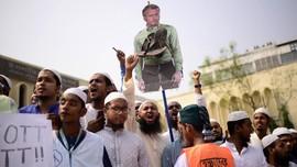 Demo Menentang Macron, Massa Solo Minta Wakapolres Bertakbir