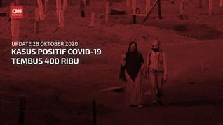 VIDEO: 28 Oktober, Kasus Positif Covid-19 Tembus 400 Ribu