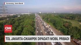 VIDEO: Tol Jakarta-Cikampek & Cipali Dipadati Mobil Pribadi