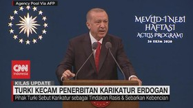 VIDEO: Turki Kecam Penerbitan Karikatur Erdogan