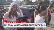 VIDEO: Belasan Wisatawan Reaktif Covid-19