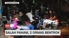 VIDEO: Dua Kelompok Ormas Bentrok di Kawasan Tangerang