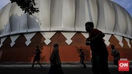 FOTO: Antusiasme Warga Berolahraga di Velodrome Saat Corona