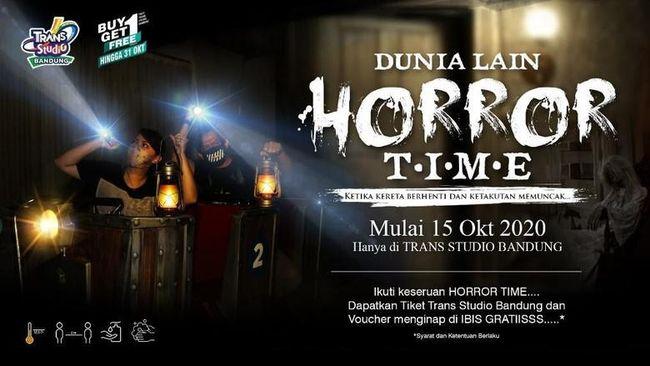 Menyambut Halloween, Trans Studio Bandung menyiapkan wahana Dunia Lain HORROR Time yang akan berlangsung hingga 31 Oktober 2020.