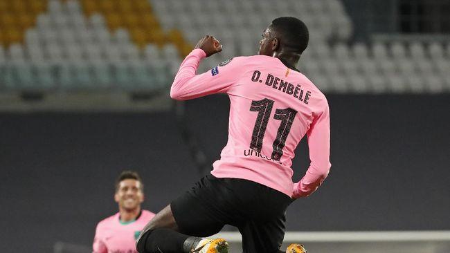 Barcelona unggul 1-0 atas Juventus di babak pertama pada matchday kedua Grup G Liga Champions di Stadion Allianz.