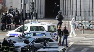 Detik-detik Serangan Penggal Warga di Prancis, 3 Tewas