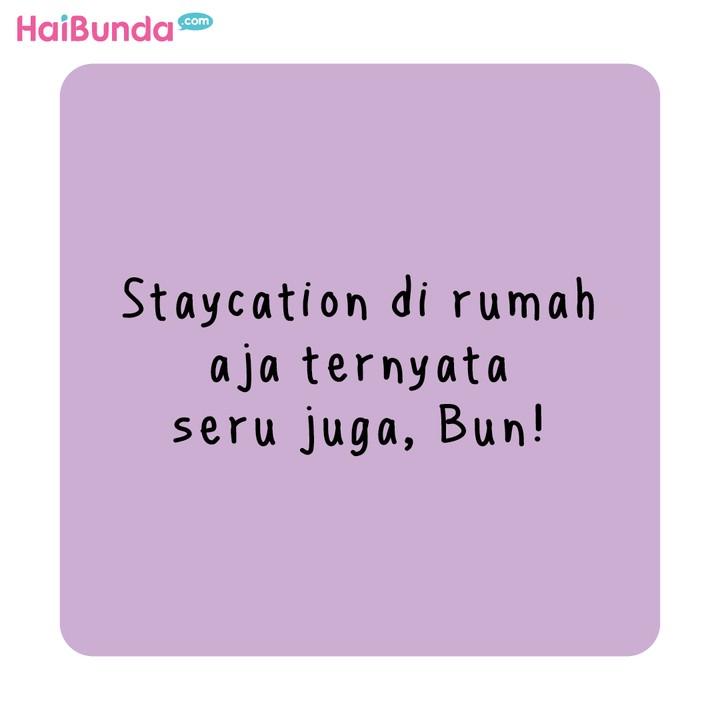 Komik HaiBunda Staycation di rumah