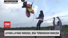 VIDEO: Layang-layang Raksasa, Bisa Terbangkan Manusia