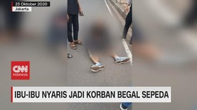 VIDEO: Ibu-Ibu Nyaris Jadi Korban Begal Sepeda