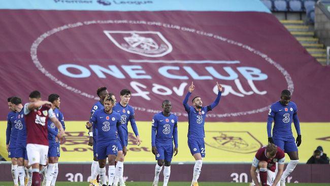 Chelsea berhasil meraih hasil positif di kandang Burnley setelah menang 3-0 di pekan ketujuh Liga Inggris.