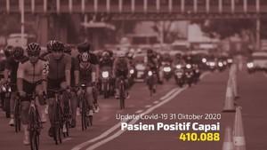 VIDEO: Kasus Positif Corona Capai 410.088 Per 31 Oktober