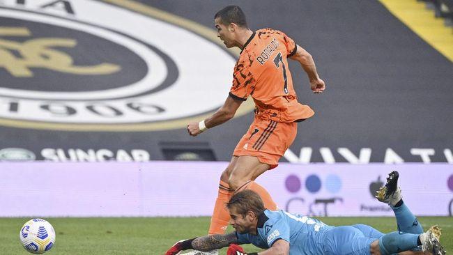 Hasil Liga Italia Ronaldo Dua Gol Juventus Lumat Spezia