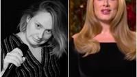 <p>Dari foto before after ini, perubahan Adele sangat terlihat jelas ya, Bunda. (Foto: Instagram @adele)</p>