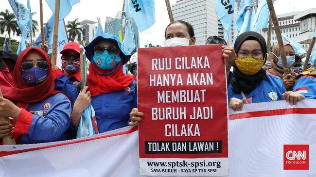 Demo buruh akan dilakukan di setiap agenda sidang UU Cipta Kerja agar Mahkamah Konstitusi memutuskan perkara secara adil.
