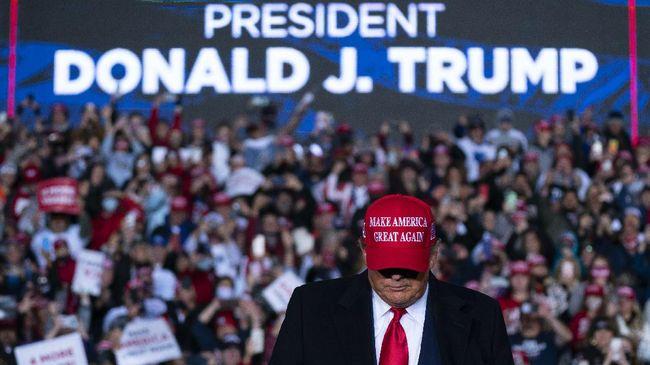 Donald Trump mendorong penggunaan infrastruktur jaringan 5G buatan Amerika Serikat usai memblokir perusahaan Huawei China.