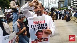 Massa Aksi Demo Bela Nabi Desak Pemerintah Usir Dubes Prancis