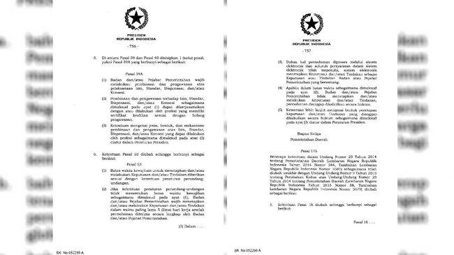 UU Nomor 11 Tahun 2020 tentang Cipta Kerja yang telah ditandatangani Presiden Jokowi diwarnai sejumlah pasal janggal.
