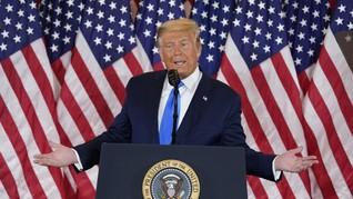 Nebeng Lapak Bubur dan Sate di Cuitan Pilpres AS Trump