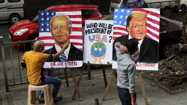 Meme kocak Trump dan Joe Biden di Pilpres AS 2020 ikut bertebaran di media sosial.