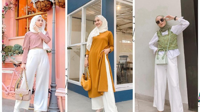 6 Tips Padu Padan Kulot Putih untuk Hijabers