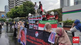 Massa Aksi Minta Jokowi Tinjau Hubungan Diplomatik Prancis